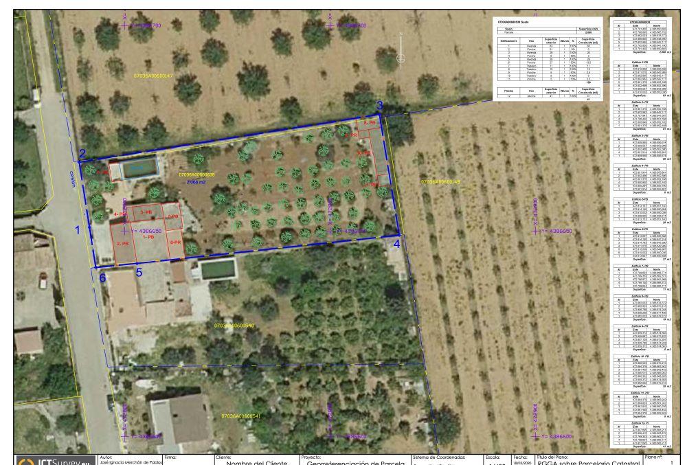 Georreferenciación de parcela y edificaciones