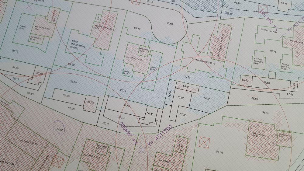 Planificación explanaciones en complejo de villas